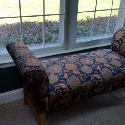 Reupholstered bench seat