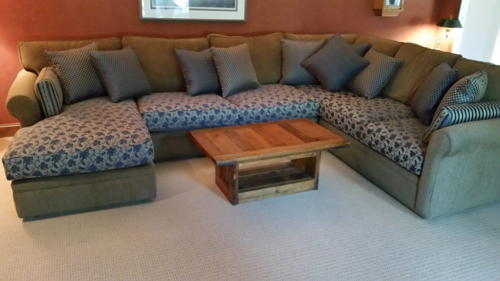 Reupholstered Cushions On Sectional Sofa