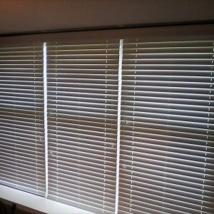 Wooden Blinds cover window in Chester Springs, PA home