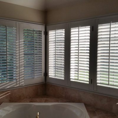 Plantation shutters in Pottstown, PA bathroom