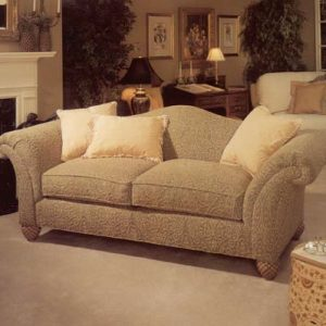 Gorgeous tone on tone two seat sofa.