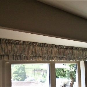 Rod pocket valance in window in Downingtown, PA home
