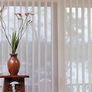 Sheer vertical blinds